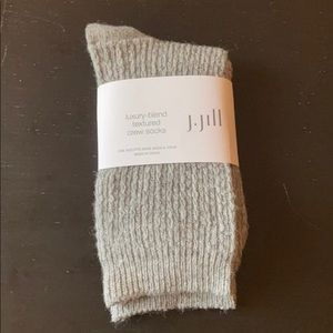 J. Jill gray luxury blend textured crew socks